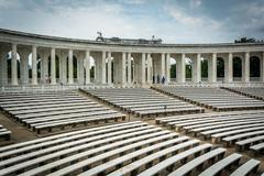 The Arlington Memorial Amphitheater at Arlington National Cemetery, in Arling Stock Photos