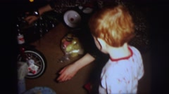 1972: children are seen playing with toys LYNBROOK, NEW YORK Stock Footage