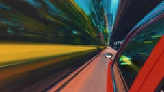 Point of view time-lapse (hyperlapse)  through the city Stock Footage