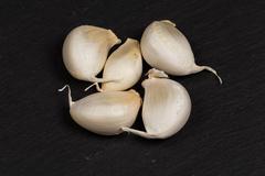 Organic whole garlic Stock Photos