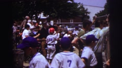 1972: children are ready to play baseball on ground LYNBROOK, NEW YORK Stock Footage