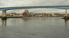 City Skyline View from the Harbour in Saint John New Brunswick. Stock Footage