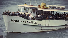 Niagara Falls 1975: Maid of the mist ship Stock Footage