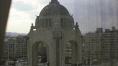 1973: a massive historic stone dome or cathedral in the center of a city MEXICO Stock Footage