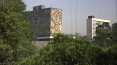 1973: building with symbol on it MEXICO Stock Footage