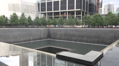 The National September 11 Memorial (4K), Manhattan, New York, United States. Stock Footage