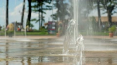 Water pouring out of the ground. The flow of water falls to the ground Stock Footage