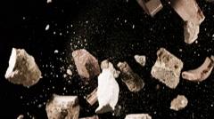 Falling Debris In Slow Motion - 77 Stock Footage