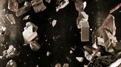 Falling Debris In Slow Motion - 79 Stock Footage