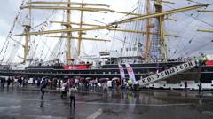 Timelaps. SCF Black Sea Tall Ships Regatta, 2016 Stock Footage