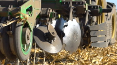 The disc harrow in the work Stock Footage