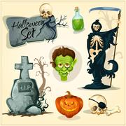 Creepy and horror elemens for Halloween designs Stock Illustration