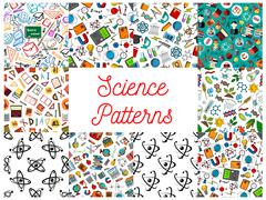 Science and knowledge seamless pattern wallpapers Stock Illustration