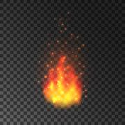 Burning fire with sparks. Blazing flames Stock Illustration
