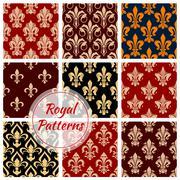 Royal floral decoration pattern backgrounds Stock Illustration