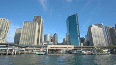 4k moving shot of Sydney CBD in daytime Stock Footage