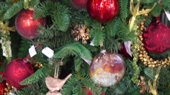 Traditional Decoration on Christmas Tree Stock Footage