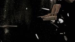 Falling Debris In Slow Motion - 142 Stock Footage