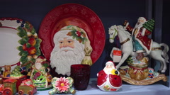 Image of Santa in Holiday Decor Stock Footage