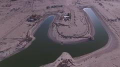 Salton Sea Landscape Aerial Stock Footage
