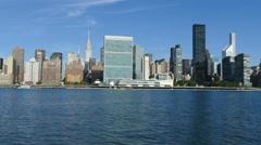 Manhattan Skyline, New York City, United Nations and Chrysler Building Arkistovideo
