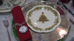 New Year and Christmas Table Layout Stock Footage