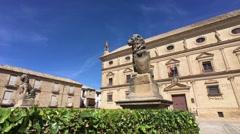 Palace of Juan Vazquez de Molina, Ubeda, Jaen Province, Andalusia, Spain Stock Footage
