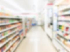 Abstract blur supermarket Stock Photos