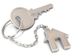 House door key and house key-chain Stock Illustration