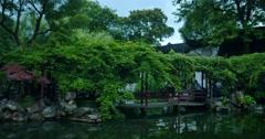 Suzhou garden Chines garden   Heritage Stock Footage