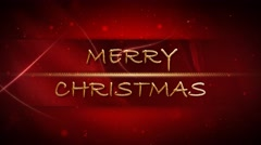 Merry Christmas Gold and Red 4K Loop Stock Footage