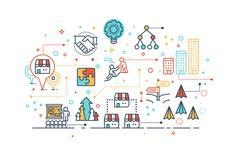 Franchise business concept Stock Illustration