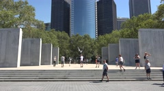 The East Coast Memorial in Battery Park, Manhattan, New York. Stock Footage