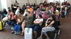 KLIA2 airport lounge area Stock Footage