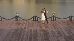 Romantic love. Wedding dance. Part 2 Stock Footage