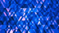Broadcast Twinkling Hi-Tech Diamonds, Blue, Abstract, Loopable, 4K Stock Footage