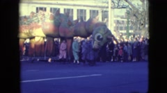 1948: giant dragon paraded through street while onlookers stare BALTIMORE, Stock Footage
