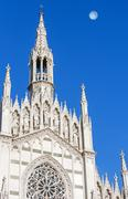The only Gothic church in Rome, Italy. Stock Photos
