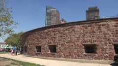 Castle Clinton National Monument, Battery Park, Manhattan, New York. Stock Footage