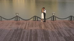 Romantic love. Wedding dance. Part 1 Stock Footage