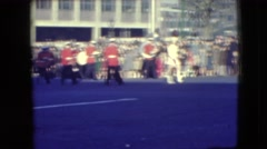 1948: pageantry show with band set before a large crowd on the street BALTIMORE, Stock Footage