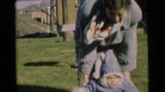 1951: how fast my little angel is growing so cute and adorable love you CHATHAM, Stock Footage