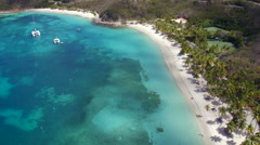 Aerial view of Peter Island Stock Footage