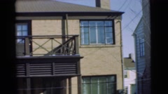 1951: the building are made up of wooden with beautiful architecture CHATHAM, Stock Footage