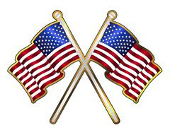 Old Glory Pin Padge Stock Illustration