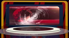 News TV Studio Set 224- Virtual Green Screen Background Loop Stock Footage