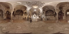 The Armenian Chapel of St. Helena, the mother of the Emperor Constantine 360 vr Stock Footage