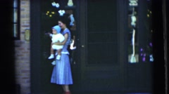 1951: new baby CHATHAM, NEW JERSEY Stock Footage