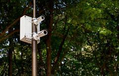The surveillance camera Stock Photos