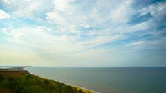 Azov sea, panoramic time-lapse Stock Footage
